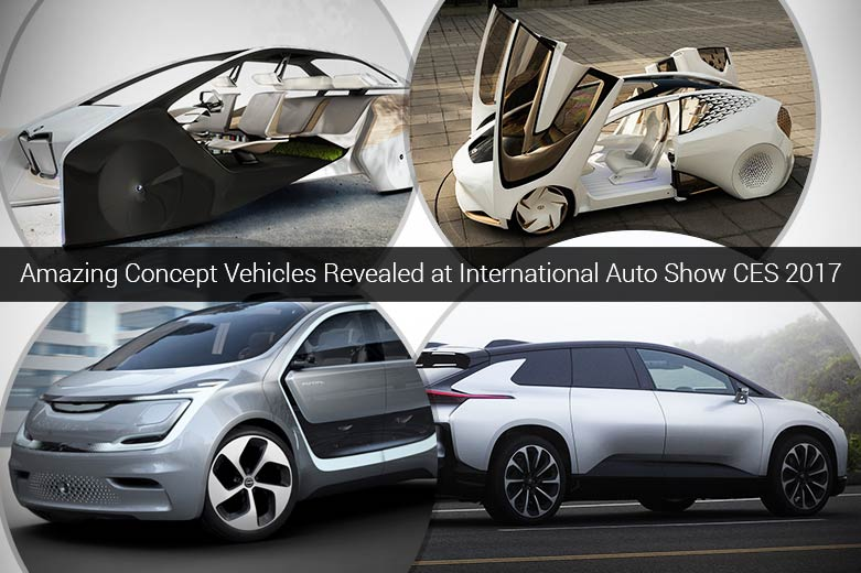 Amazing Concept Vehicles Revealed at International Auto Show CES 2017